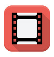 Filmstrip flat app icon with long shadow vector image vector image