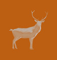flat shading style icon deer vector image vector image