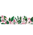 floral exotic tropic greenery boho wedding vector image