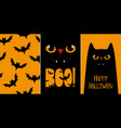 halloween cards set with vector image