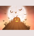 halloween pumpkin background vector image