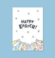 happy easter greeting card happy easter vector image vector image