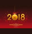 happy new year 2018 placard banner template design vector image vector image