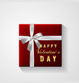 happy valentines day golden glitter sparkle gift vector image vector image