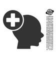 head treatment icon with people bonus vector image