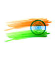 indian flag made with color strokes vector image vector image