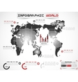INFOGRAPHIC WORLD MODERN EDITION vector image vector image