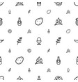 ingredient icons pattern seamless white background vector image vector image