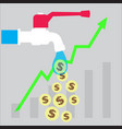 investment money growth icon vector image vector image