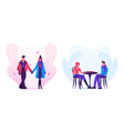 loving couple dating in autumn time young man and vector image vector image