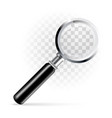 magnifier on a transparent background vector image vector image