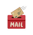 mail envelope message icon sending letter vector image