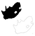 map south africa isolated vector image vector image