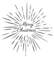 merry christmas rays vector image vector image