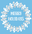 merry holidays pastel card with christmas wreath vector image vector image