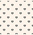 minimalist seamless pattern with small hearts vector image