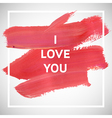 Motivation LOVE square acrylic stroke poster vector image vector image