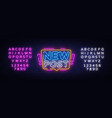 new post neon text blogging neon sign vector image