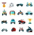 Offroad Icons Set vector image vector image