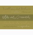 Olive oil varieties vector image vector image