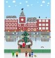 on a Christmas theme vector image vector image