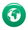 our planet icon green vector image