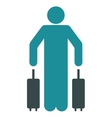 Passenger Luggage Flat Icon vector image vector image