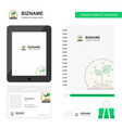 plant business logo tab app diary pvc employee vector image vector image