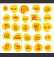premium quality modern sticker and tag yellow vector image vector image