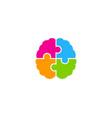 puzzle brain logo icon design vector image