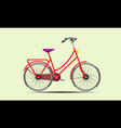 red ladies bike vector image