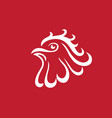 rooster logo template vector image vector image