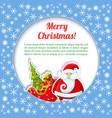 santa colored card vector image vector image