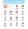 school classrooms - modern simple icons vector image vector image