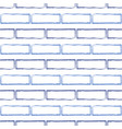 seamless pattern of stylized blue brick wall vector image vector image