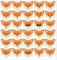 set funny fox emoticons vector image