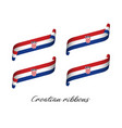 set of four modern colored croatian ribbons vector image