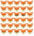 Set of funny fox emoticons vector image vector image