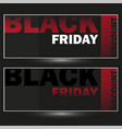 set of modern discount vouchers for black vector image