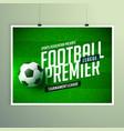 soccer football championship presentation flyer vector image vector image