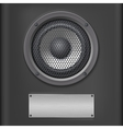 Sound speaker with metal plate vector image vector image