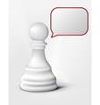 speak chess pawn vector image vector image