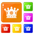 spica icons set color vector image vector image