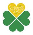 st patricks day abstract clover logo design vector image vector image