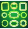 St Patricks Day Neon Banners vector image vector image
