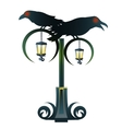 Street Gothic lantern with two black Raven vector image vector image
