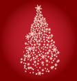 stylized Christmas tree on decorative background vector image