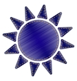 Sun sign vector image vector image