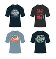 surfing california t-shirt design typography vector image