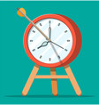 target with bow arrow and clock vector image vector image